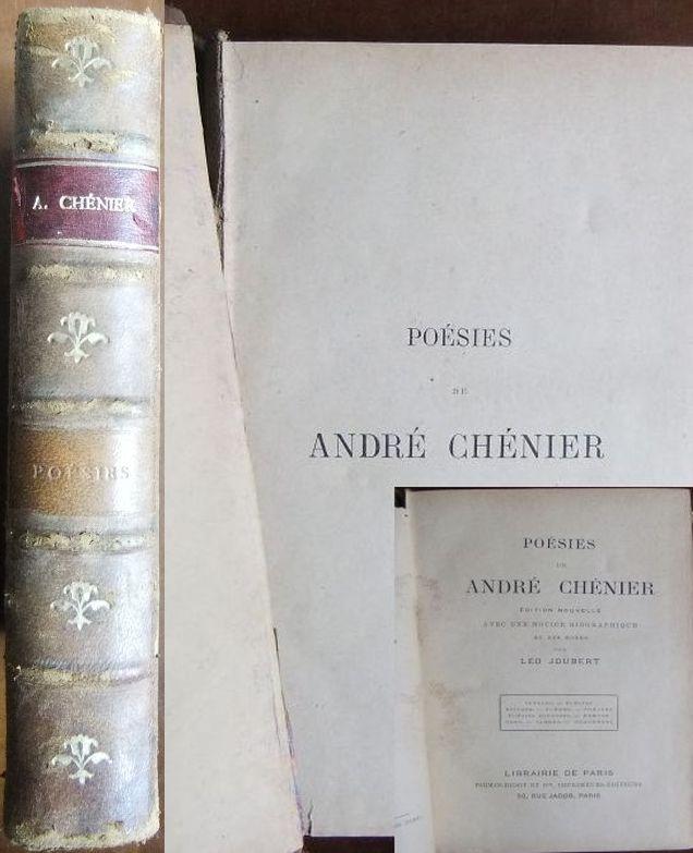 Poésies. Edition nouvelle avec une notice biographique et des notes par Léo Joubert.