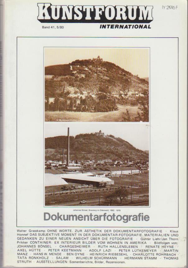 Kunstforum international - Band 41. 5 / 1980 : Dokumentarfotografie.