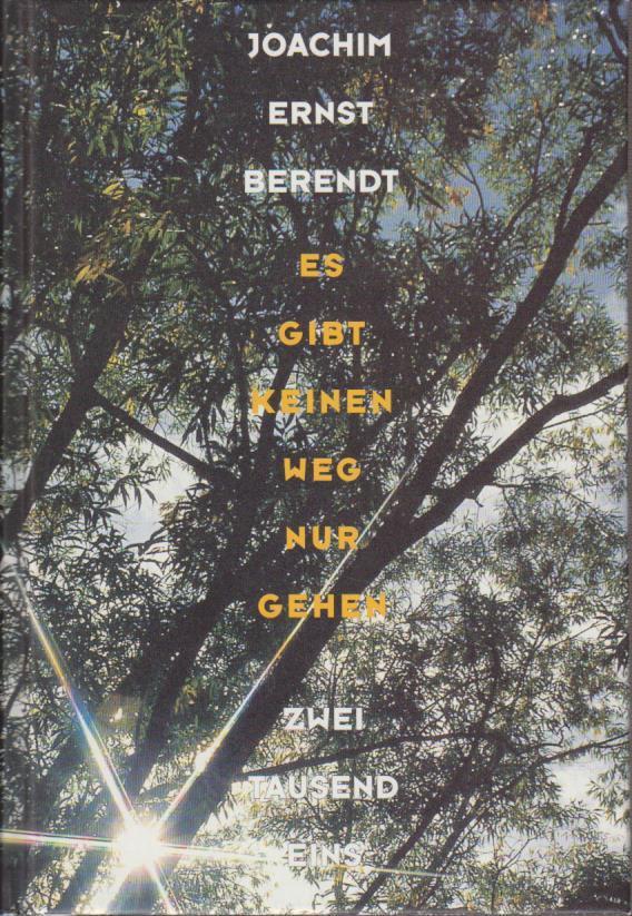Es gibt keinen Weg, nur gehen : sein in der Natur / Joachim-Ernst Berendt SEIN in der Natur Dt. Erstausg., 1. Aufl.