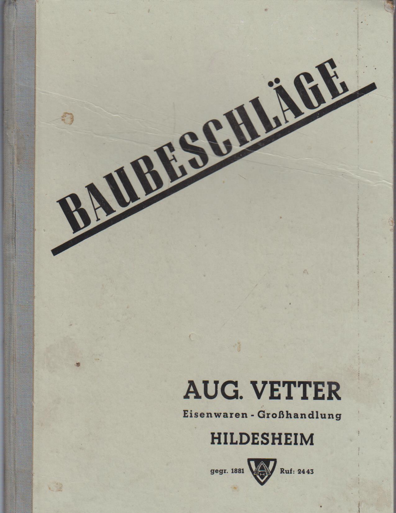 Katalog: Baubeschläge. Jahresausgabe