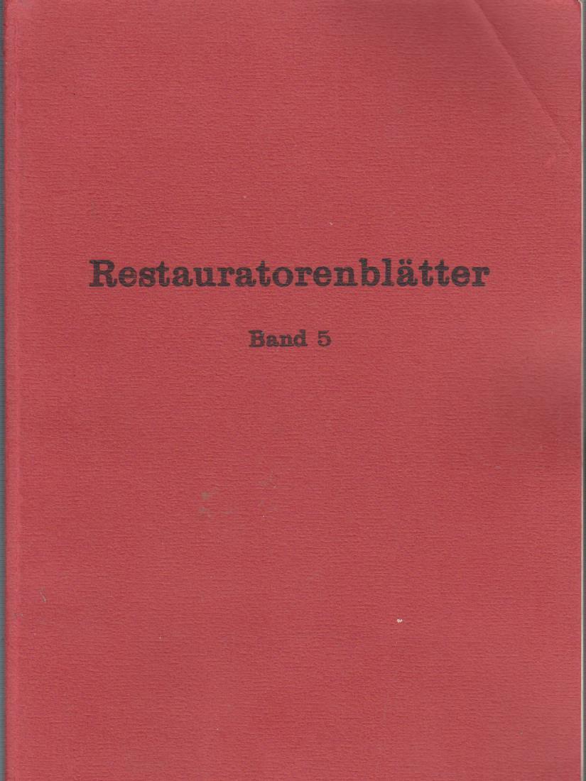 Klima- und Ausstellungsprobleme, Rechts- und Finanzfragen. [Hrsg.: Österr. Sekt. d. IIC (Internat. Inst. for Conservation of Histor. and Artist. Work)], Restauratorenblätter 5.