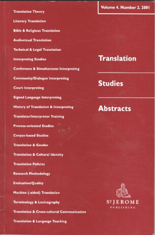 Translation Studies Abstracts Vol. 4 - No. 2