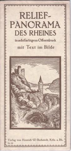 Relief-Panorama des Rheins in achtfarbigem Offsetdruck mit Text im Bilde. Nr. 10