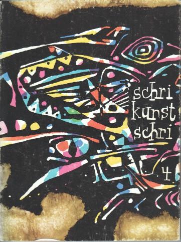 Schri Kunst Schri IV : Ein Almanach alter und neuer Kunst, 4. Band.