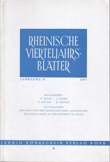 Rheinische Vierteljahrsblätter. Jahrgang 37.