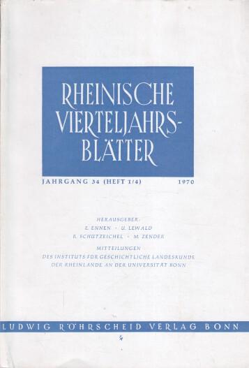 Rheinische Vierteljahrsblätter. Jahrgang 34.