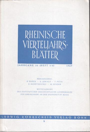 Rheinische Vierteljahrsblätter. Jahrgang 33.
