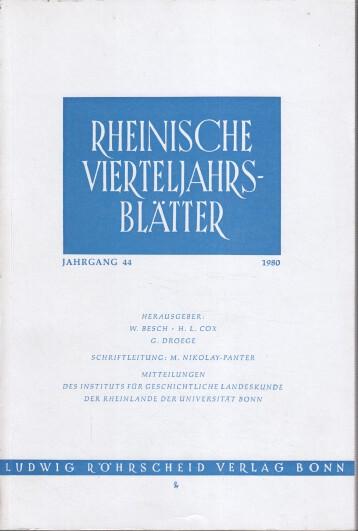 Rheinische Vierteljahrsblätter. Jahrgang 44.