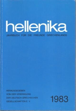 Hellenika 1983 : Jahrbuch für die Freunde Griechenlands.