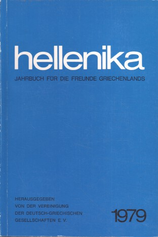 Hellenika 1979 : Jahrbuch für die Freunde Griechenlands.