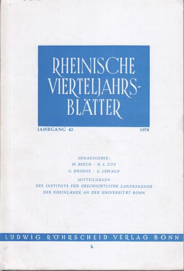 Rheinische Vierteljahrsblätter. Jahrgang 42.