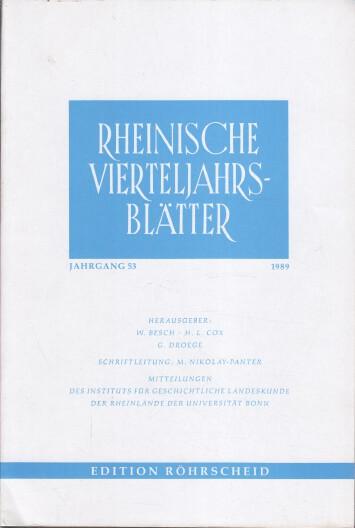 Rheinische Vierteljahrsblätter. Jahrgang 53.