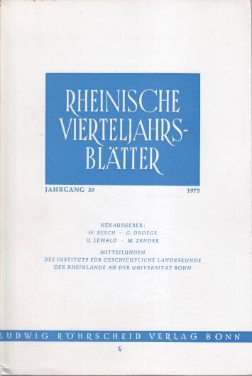 Rheinische Vierteljahrsblätter. Jahrgang 39.