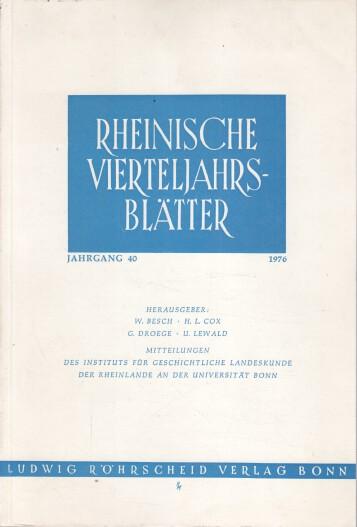Rheinische Vierteljahrsblätter. Jahrgang 40.