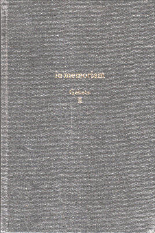 Delius, Uta v.: In Memoriam - Gebete II.