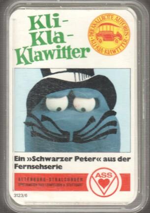 """Kli- Kla- Klawitter : Ein """"Schwarzer Peter"""" aus der Fernsehserie. ASS [Kartenspiel] Der knallrote Autobus."""