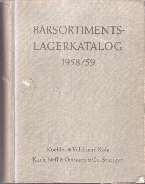 Barsortimentslagerkatalog 1958/59.