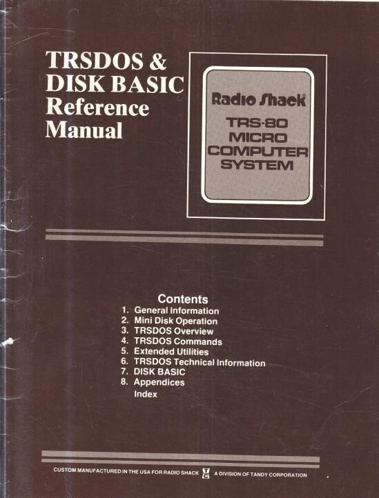 TRSDOS 2.3 und DISK BASIC 2.2 : Reference Manual. Radio Shack. TRS-80 Micro Computer System. 1. Aufl.