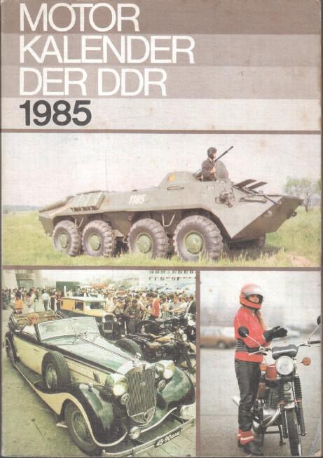 Motorkalender der DDR 1985.