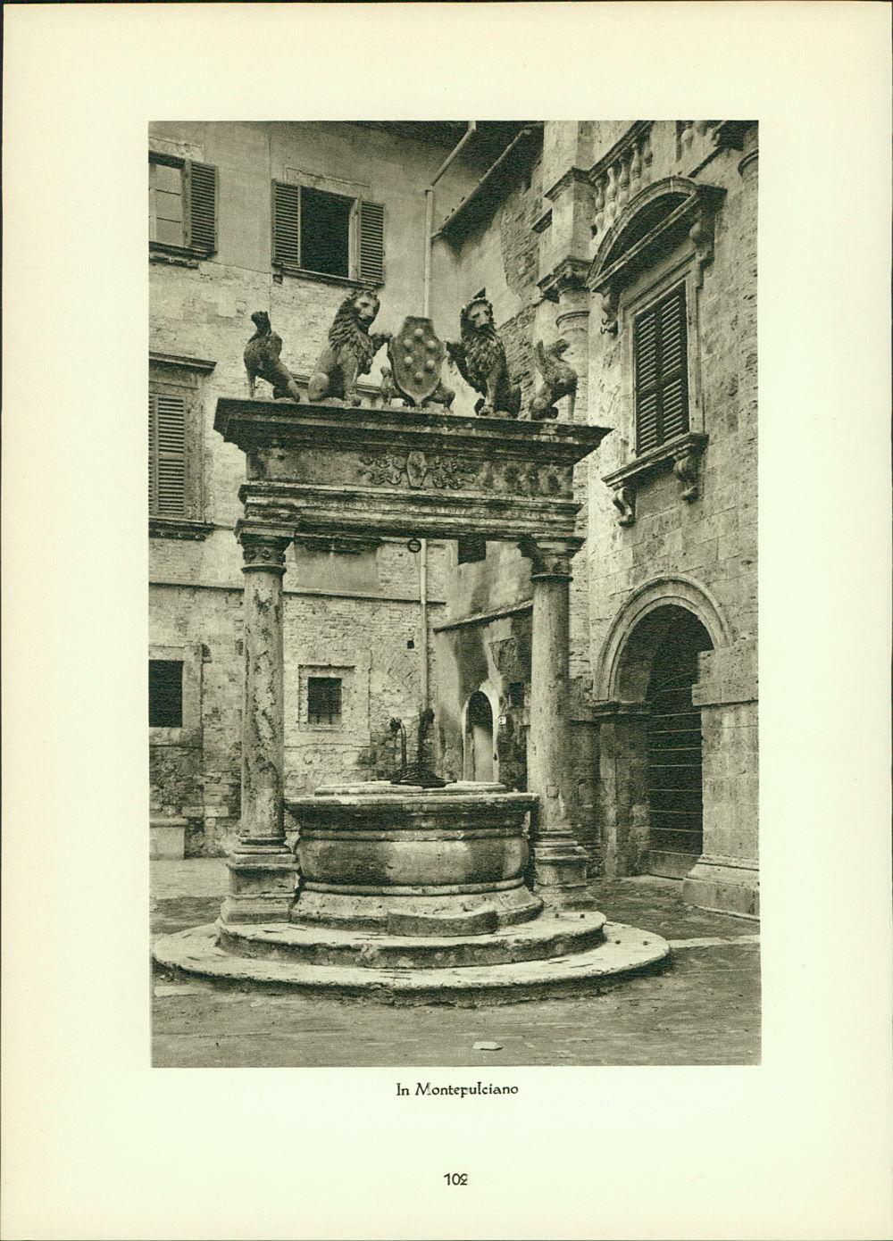 Hielscher, Kurt: Kupfertiefdruck : Fabriano - Palazzo del Podesta - In Montepulciano Stadtansichten.