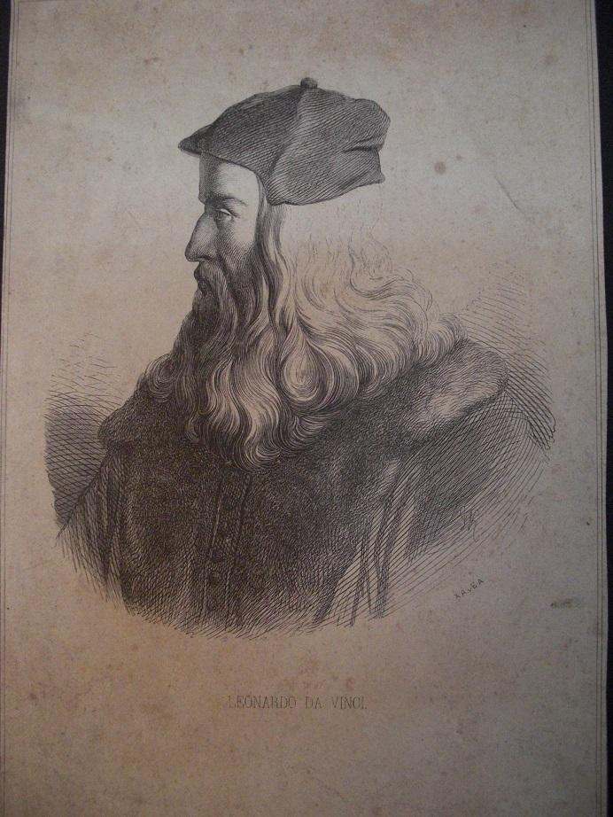 Orig. Holzstich: Leonardo da Vinci. ( XAVEA )