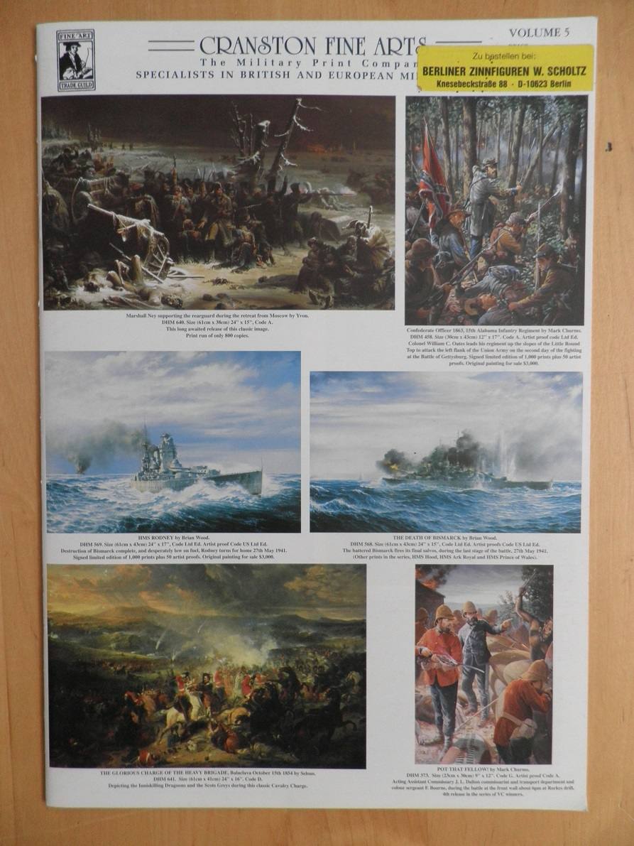 Cranston fine arts. Vol. 5. Specialists in british and european military.