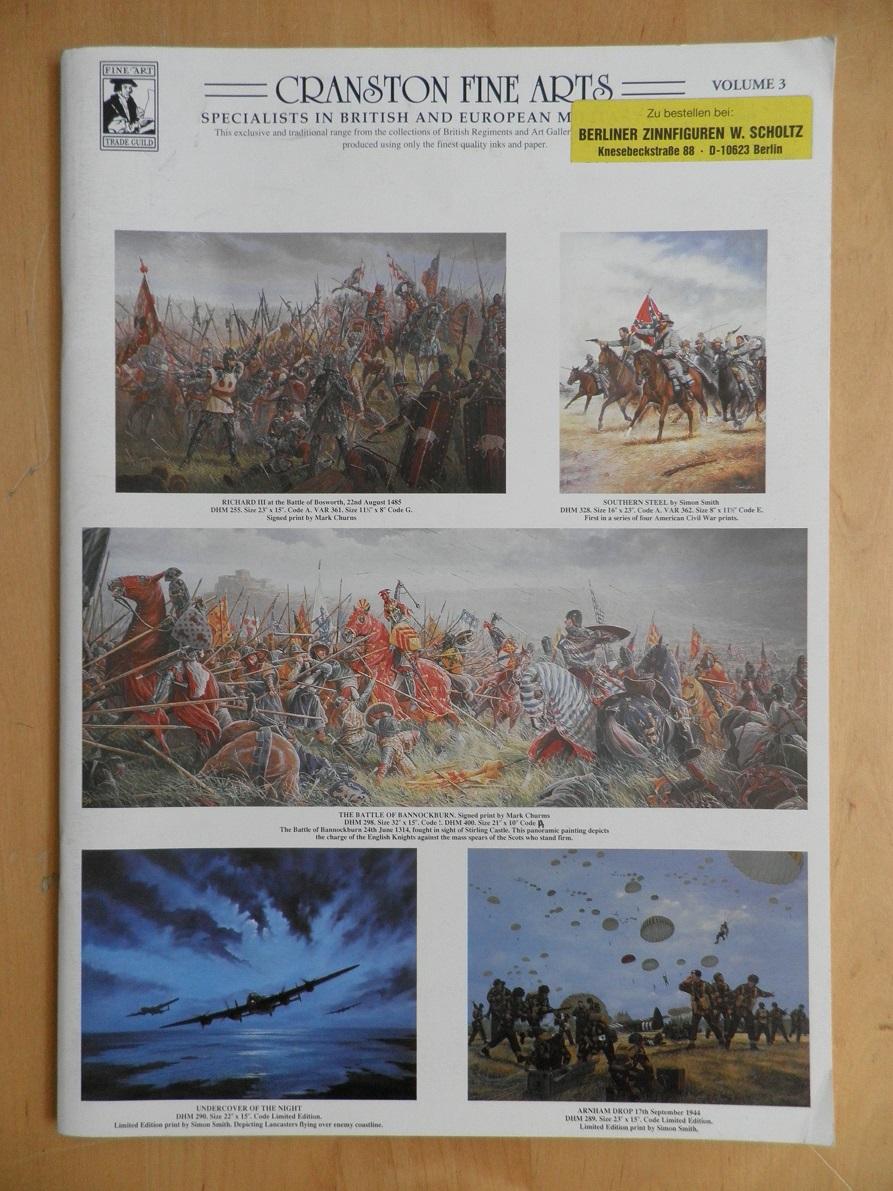 Cranston fine arts. Vol. 3. Specialists in british and european military.