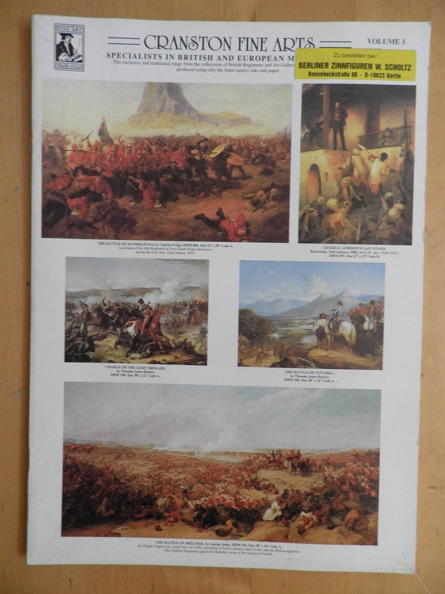 Cranston fine arts. Vol. 1. Specialists in british and european military.