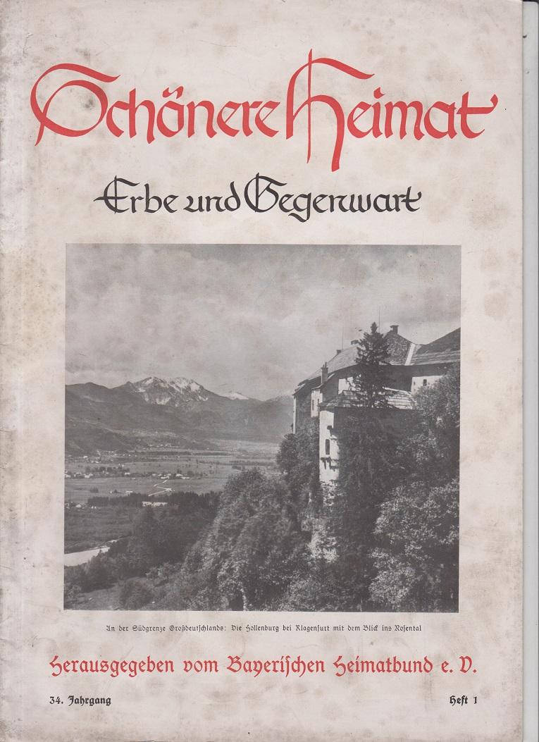 Schönere Heimat. Erbe und Gegenwart. 34. Jahrgang., Heft 1.