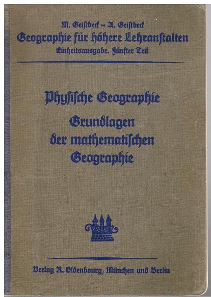 Geistbeck, M. und A. Geistbeck Physische Geographie