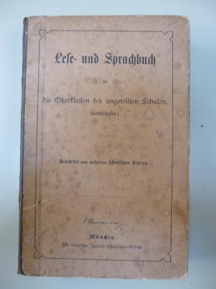 Lese- und Sprachbuch für die Oberklassen der ungeteilten Schulen.(Landschulen),