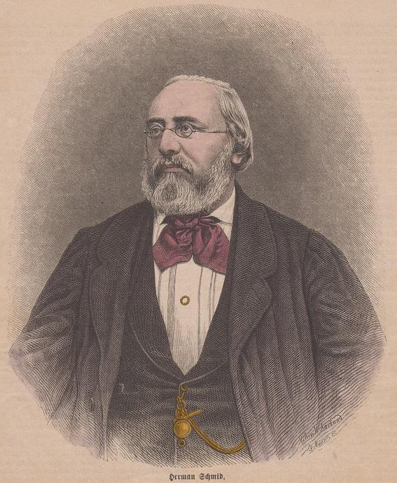kol. Holzstich - Herman Schmid Schriftsteller