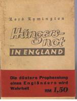 "Hungersnot in England. Auszüge aus ""Famine in England""."