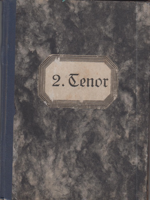 Liedersammlung des Schwäbischen Sängerbundes, 5. Band, Tenor II.