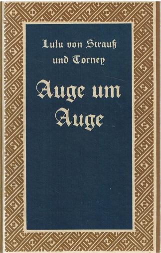 Auge um Auge Deutsche Reihe Nr. 5 31.-40.Tsd.