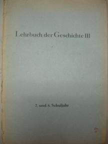 Lehrbuch der Geschichte III