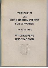 Zeitschrift des Historischen Vereins für Schwaben Band 58