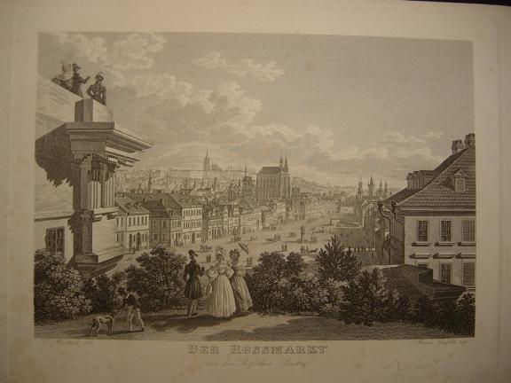 Prag - Der Rossmarkt, von der Rossthor-Bastey,