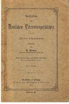 Damm, H. (bearb.) Leitfaden zur Deutschen Literaturgeschichte für den Schulgebrauch.
