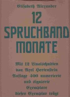 12 Spruchband Monate - Mit 12 Linolschnitten von Axel Hertenstein.