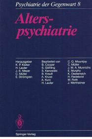 Psychiatrie der Gegenwart - Alterspsychiatrie Band 8