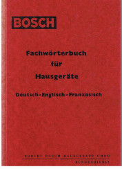 Fachwörterbuch für Hausgeräte. Deutsch - Englisch - Französisch.