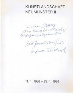 Kunstlandschaft Neumünster II. (11.1.1988 - 29.1.1988).