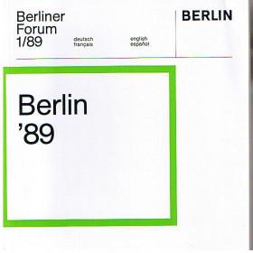 Berliner Forum 1/89: Berlin