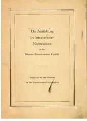 Die Ausbildung des künstlerischen Nachwuchses in der Deutschen Demokratischen Republik.