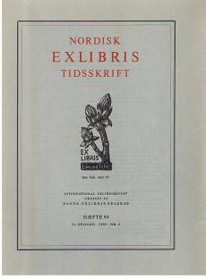 Nordisk Exlibris Tidsskrift. 21. Argang. 1969. Haefte 94 Nr. 2.