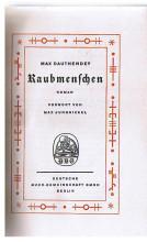 Raubmenschen 1. Aufl.