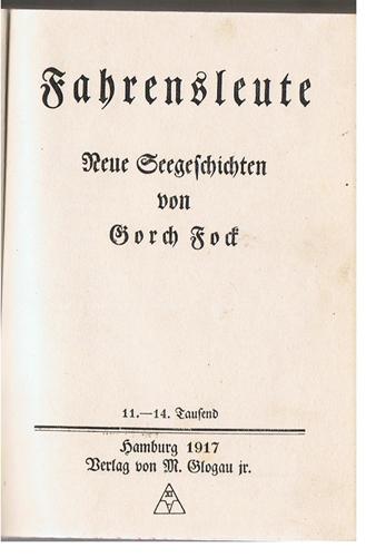 Fock, Gorch Fahrensleute