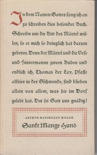 Miller, Arthur Maximilian Sankt Mange Hund 1. Aufl.
