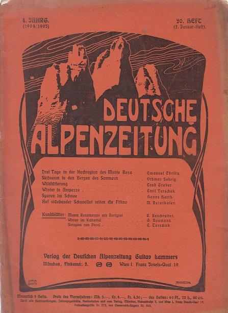 Lankes, Eduard Deutsche Alpenzeitung Heft 24, 2. März Heft; 4. Jahrgang